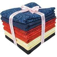 Moda Marbles and Swirls, Half Yard Fabric Bundle. 4 Yards with 8 Assorted Prints by Moda Marbles...