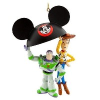 Disney Parks Pixar Woody & Buzz Mickey Ears Holiday Ornament - Disney Parks Exclusive & Limited...