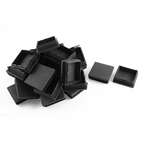 uxcell 家具保護 チューブパイプキャップ 正方形 キャップ プラスチック 30個 60mm x 60mm
