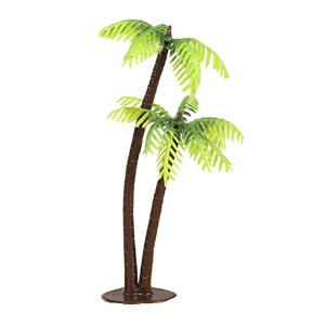Zhhlaixing 100PCS Artificial Plastic Small Coconut Tree for Home Outdoor Indoor Decor