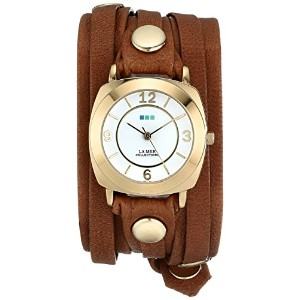 La Mer Collections Women's LMODY1005 Layered Wraps Brown Washed Layered Odyssey Case Watch...