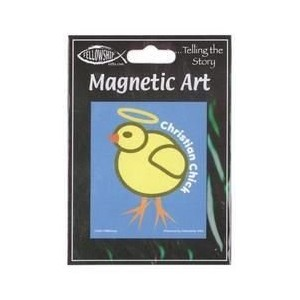 """TMBishop - Christian Adorable Little Chick マグネット Magnet - 3"""" x 3.5"""" - Weather Resistant, Long..."""