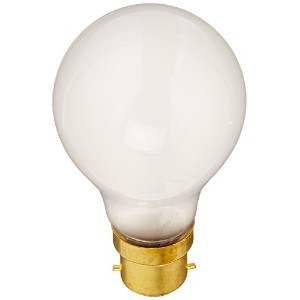 Satco S5031 60 Watt 630 Lumens A19 Incandescent Euro DC Bayonet Base Light Bulb, Frosted by Satco