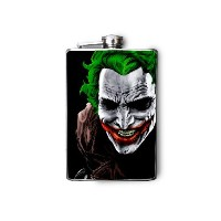 The Joker Decorated 8oz. Stainless Steel Flask - FN159 by DnA Creations