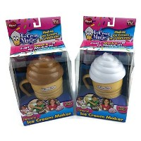 Ice Cream Magic Personal Ice Cream Maker Chocolate and Vanilla Colored Lids by Magic Ice Cream
