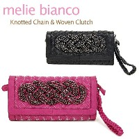 melie bianco Knotted Chain & Woven Clutch メリービアンコ チェーン クラッチバッグ【楽ギフ_包装選択】【r】【71】