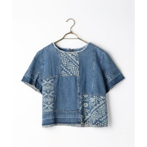 ★dポイント最大20倍★【NOLLEY'S(ノーリーズ)】S 【Sea New York/シー ニューヨーク】 Bleached Patchwork Top (RS16?16)【dポイントでお得に購入...