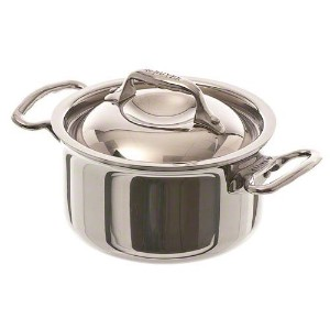 De Buyer Affinity Minis Mini Stainless Steel Stew Pan, 1-Quart [並行輸入品]