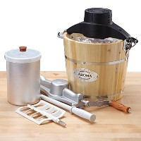Aroma 6-Quart Wood-Barrel Ice-Cream Maker, Natural [並行輸入品]