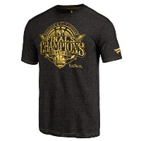Golden State Warriors Fanatics Branded 2017 NBA Finals Champions Gold Luxe Tri-Blend T-Shirt メンズ...