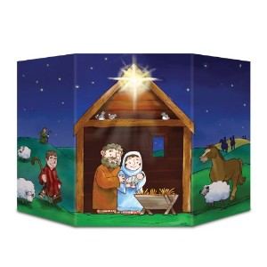 Beistle 1パックNativity stand-up、3-feet 1インチby 25-inch