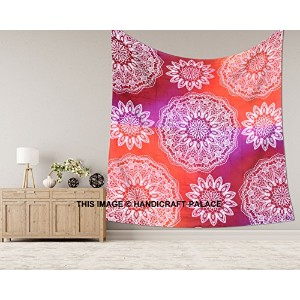 EXCLUSIVE Ombre Mandalaタペストリー、IndianヒッピーHippy Galaxy Ombre Wall Hanging、ボヘミアンクイーンWall Hanging...