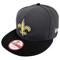 New Era NFL New Orleans Saints Graphite Snapback Cap M L 9fifty Limited Edition