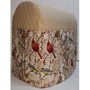 Quilted Birds & Berries Kitchenaid Lift Bowl Stand Mixer Cover (Tan) by Penny's Needful Things