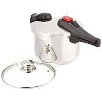 Chef's Design D6 Stainless Steel Dual Function Pressure Cooker, 6-Liter [並行輸入品]