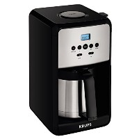 KRUPS ET351 SAVOY Programmable Thermal Stainless Steel Filter Coffee Maker Machine with Bold and 1...
