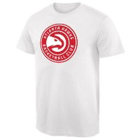 Atlanta Hawks Team Primary Logo T-Shirt メンズ White NBA Tシャツ アトランタ ホークス
