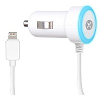 日本トラストテクノロジー Mini Car Charger with Lightning connector for iPad、iPhone or iPod ホワイト DCA288-W