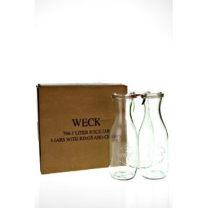 Weck Juice Jars, 35.9 ounce - Set of 3 by Weck