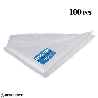 Large Disposable Piping Bags - For Decorating Pastry such as Birthday Cakes and Cookies - 16 Inch -...