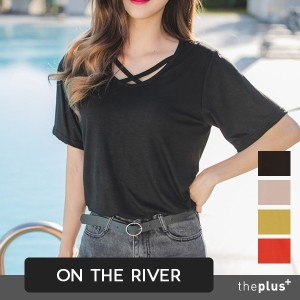★ontheriver ★Summer Vivid Neck-string T-shirt / Short / Korean Fashion / Plus size