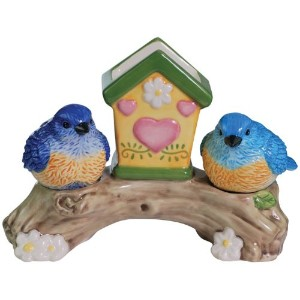 Westland Giftware Mwah 。Bluebirds 3 – 3 / 4インチ磁気つまようじand Salt and Pepper Set