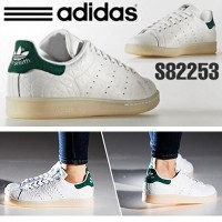 【17年新作】[S82253] adidas オリジナルス スタンスミス[STAN SMITH] STAN SMITH FTWR WHITE/FTWR WHITE/COLLEGIATE GREEN