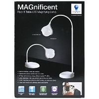 MAGnificent Floor/Table LED Magnifying Lamp-White (並行輸入品)