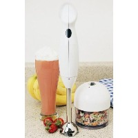 Maxi-Matic EC-3060X Elite Cuisine 200W Hand Blender with 3-Cup Food Processing-Cup and Attachments,...