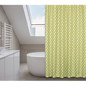 Manhattan Shower Curtain Set (14 pieces) in Green Grapes [並行輸入品]