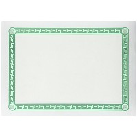Hoffmaster PP37650 Greek Border Economy Placemat, 14' Length x 10' Width, Green (Case of 1000) ...