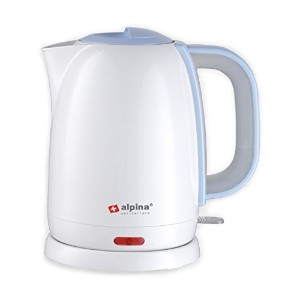 Alpina SF-806 Automatic 220V Cordless Electric Hot Water Kettle, 1.7 L, White [並行輸入品]