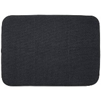 S&T 445400 Microfiber Dish Drying Mat, X-Large, 18 by 24-Inch, Black [並行輸入品]