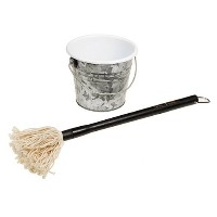 Steven Raichlen Best of Barbecue Barbecue Sauce Mop and Bucket Set [並行輸入品]
