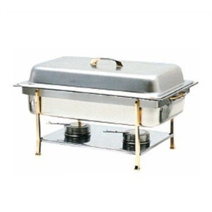 Thunder Group SLRCF0840 Capacity Chafer with Brass trim, 8-Quart [並行輸入品]