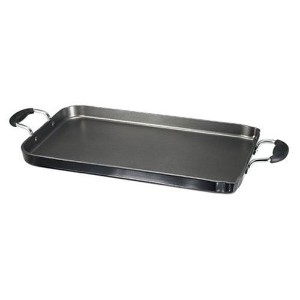 T-fal A92114 / C4061484 Specialty Nonstick Dishwasher Safe 18-Inch x 11-Inch Double Burner Family...
