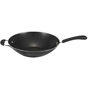 T-fal A80789 Specialty Nonstick Dishwasher Safe Oven Safe PFOA-Free Jumbo Wok Cookware, 14-Inch,...