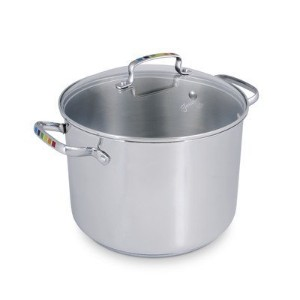 Fiesta Stainless Steel Masquerade Covered Stockpot, Silver, 8 quart [並行輸入品]