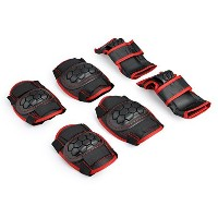 Sports Protective Gear safety pad Safeguard (Knee Elbow Wrist) Support Pad Set equipment for Adult...