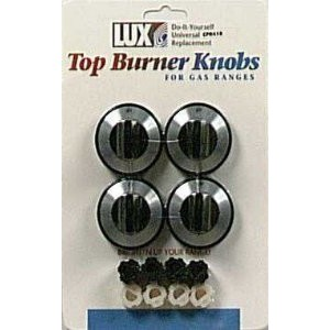 Lux Products #CPR410 4PK Black Gas Burner Knob [並行輸入品]