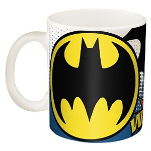Zak! Designs Ceramic Mug with Batman Graphics, 11.5 oz. [並行輸入品]