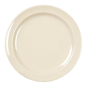 Excellant? Milan Melamine Tan Collection 8-Inch Round Dinner Plate, Tan, 12-Piece [並行輸入品]