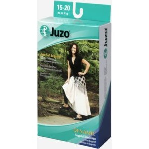 Juzo Soft footless 15-20mmHg pantyhose Leggings., IV, Black by Juzo