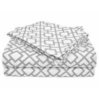 American Baby Company 100% Cotton Percale Toddler Bedding Sheet Set, Gray Lattice, 3 Piece by...