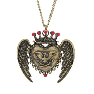 DaisyJewel Vintage Eagle Crestロケットペンダントネックレス