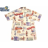 REYN SPOONER(レインスプーナー)GOLD LABEL/COTTON HAWAIIAN SHIRTS/TOY GONE/tan