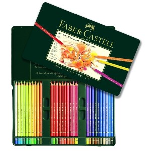 Faber-Castel 110060 Polychromos Colored Pencil Set In Metal Tin, 60 Pieces