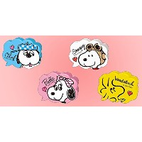 SNOOPY WITH MUSIC スヌーピー 楽譜クリップ (フキダシ型セット(4色))