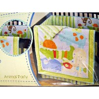 Sumersault 4 Piece Baby Crib Bedding Sheet Set Animal Party by Sumersault