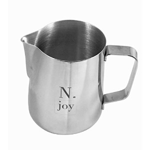 N.joy the Essentials Stainless Steel Milk Pitcher, Suitable for Coffee, Latte and Frothing Milk,...